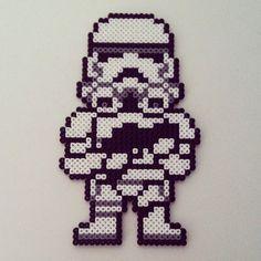 Stormtrooper - Star Wars hama perler beads by color_shock Hama Beads Design, Diy Perler Beads, Perler Bead Art, Pearler Beads, Fuse Beads, Pearler Bead Patterns, Perler Patterns, Perle Hama Star Wars, Pixel Art