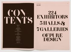 If you are heading to the London Design Festival's Tent London show, be sure to pick up a copy of the rather nice accompanying directory designed by Marc&Anna using Rick Banks' F37 Bella font