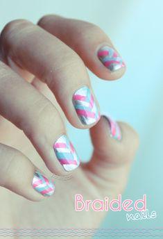 """""""Braided"""" nail polish art"""