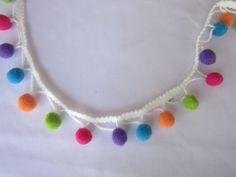 3 cantieri multicolore Pom Poms/sciarpa pompon pezzi di Fabricden