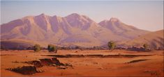 Mount Sonder, Western McDonald Ranges John Wilson Australian landscape oil Paint… – Alternative Home Australian Painters, Australian Artists, Landscape Art, Landscape Paintings, Oil Paintings, Painting Art, Blue Mountain, Western Art, Art Techniques