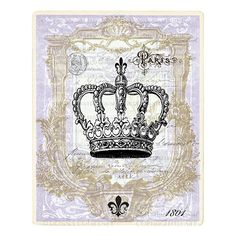 CROWN Vintage Style Art Print. Lavender . 8 x by TheDecoratedHouse, $14.00
