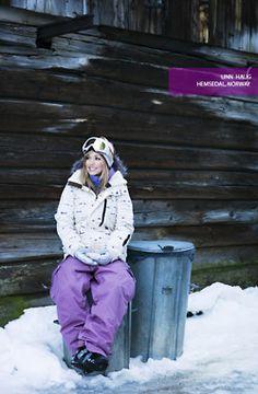 snowboarding girl