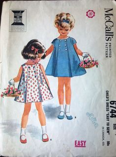 McCall's 6744 Pattern for Toddlers' Dress by VictorianWardrobe, $8.00