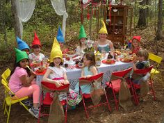 Picture Perfect Party Co.: Another Enchanted Woodland and Gnome Party #Woodland #gnome #birthday #party