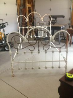 Great Old Ornate Antique Br And Iron Bed 50856