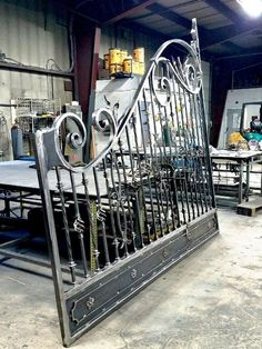 Decorative Automated Wrought Iron Gate fabricated in our iron shop in Baldwin Place, NY Grill Gate Design, Fence Gate Design, Front Gate Design, Steel Gate Design, House Gate Design, Wrought Iron Driveway Gates, Gates And Railings, Metal Gates, Wrought Iron Doors