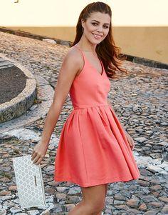 f0a7d9daf85 Girls on Film - Chloe Lewis in satin prom dress Chloe Lewis Style