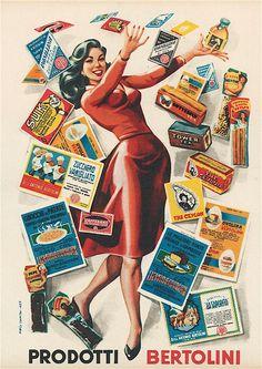 saved to Retro Posters/Adverts/ArtBertolini, Vintage Italian Posters, Vintage Advertising Posters, Old Advertisements, Vintage Travel Posters, Poster Vintage, Vintage Ads, Advertising Ideas, Old Posters, Retro Posters