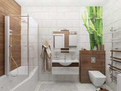Ванная комната также может быть уютной и стильной. В одном из наших проектов представлено органическое сочетание таких материалов, как мрамор и дерево.