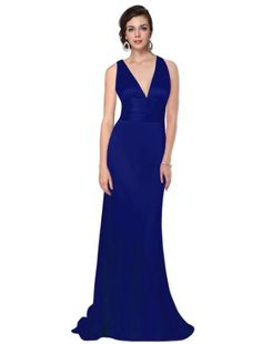 Ever Pretty Trailing V-neck Ruffles Cross Back Empire Waist Bridesmaid Dress 09008, HE09008SB06, Sapphire Blue, 4US Ever-Pretty,http://www.amazon.com/dp/B00DHX7JZQ/ref=cm_sw_r_pi_dp_i4-Etb0076AKAKNN