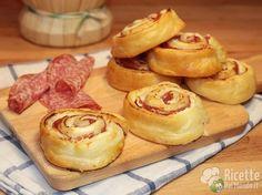 Ricetta per Girelle di Pasta Sfoglia veloci con Salame e Philadelphia