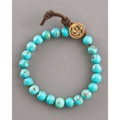 Love Heals Turquoise Bead Bracelet found on Polyvore by Love Heals $100.00