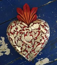 Wooden hand carved milagros heart from Mexico. Made by local artisans. – Salsa Sisters
