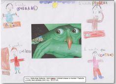 """Couverture réalisée par Khaled à partir du livre """"comment chasser un monstre, fastoche !"""" de Marie-Ange Guillaume. Pour voir mon livre, il faut cliquer sur mon dessin."""