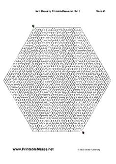 A set of 10 challenging mazes in a variety of shapes. The mazes gradually increase in difficulty. Free to download and print