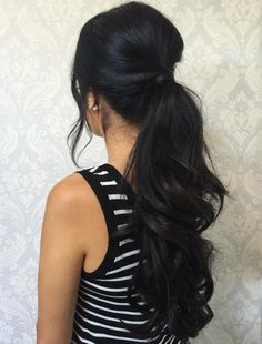 Wavy Ponytail For Long Hair
