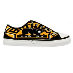 Boston Bruins Custom Canvas Shoes (Women)