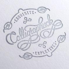 Typeverything.comLetterpress Logo By Calligraphuck.
