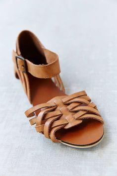 Kimchi Blue Woven Ankle-Strap Sandal - Urban Out
