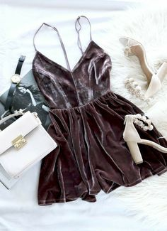 Sweet Vixen Romper – Mocha - Jumpsuits and Romper Clubbing Outfits, Date Outfits, Night Outfits, Trendy Outfits, Hoco Dresses, Cute Summer Dresses, Homecoming Dresses, Casual Dresses, Prom