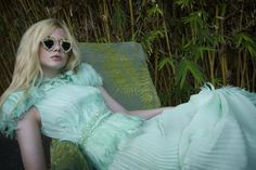 Just delightful! - Elle Fanning in Rodarte. Photographed by Bill Owens for A Magazine.