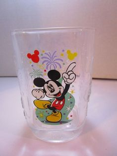 McDonald's 2000 Walt Disney World Celebration Glass-Magic Kingdom Mickey Mouse #McDonalds