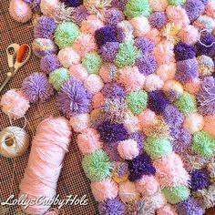 Pom Pom Rug Custom Color Pom Pom Rug Fluffy Soft Rug