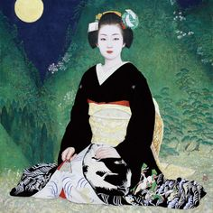 """Saki 笄 Sakko"" This is a painting of Kyouka on her last day as a Maiko. She is now one of the top 5 Geiko in Kyoto."