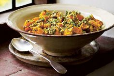 Pumpkin and kumara salad recipe, Bite – A recipe from The Great Dixter Cookbook by Aaron Bertelsen - Eat Well (formerly Bite) Side Recipes, Vegetable Recipes, Fall Recipes, New Recipes, Vegetarian Recipes, Kumara Salad, Pumpkin Squash, Sustainable Food, Vegetable Dishes