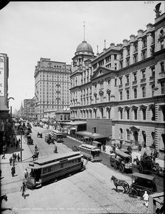 Grand Central Station and Hotel Manhattan, New York c. 1900