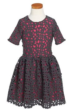 Halabaloo Curly Laser Cutout Party Dress (Toddler Girls, Little Girls & Big Girls) available at #Nordstrom
