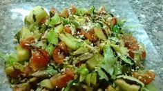 Insalata di sgombro con verdure Salad with vegetables and fish