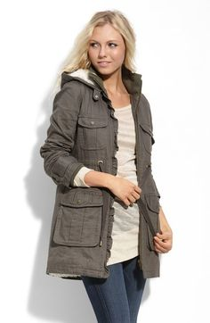 Sanctuary 'Frost' Faux Fleece Lined Twill Parka available at #Nordstrom