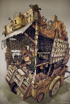 Steampunk Tendencies | steampunktendencies: Illustrations by Demizu...