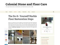 Tier article marble cleaning pinterest terrazzo and concrete the do it yourself marble floor restoration steps solutioingenieria Images