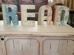 Readers digest books cut into letters make itlove it custom reader digest vintage book letters spiritdancerdesigns Images