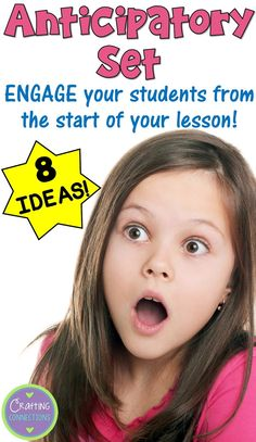 8 ideas for incorporating an anticipatory set activity into your lessons! Reading Skills, Teaching Reading, Teaching Math, College Teaching, Reading Intervention, Reading Workshop, Teaching Spanish, Guided Reading, Instructional Strategies