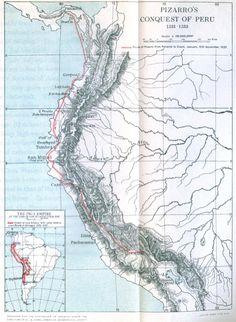 Pizarro's Peru Conquest Map