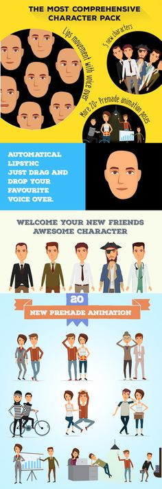 Character Design Animation Toolkit Free : Cartoon people vector g drawings