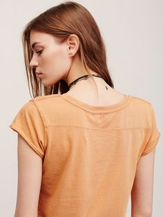 We The Free Kelly Tee | This is your new go-to fit, featured in a boxy fit, that's cropped to the natural waist with a rounded neck. Short sleeves with an unfinished, raw trim.