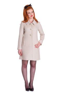 Lulu 60s Style Winter Kurzmantel v. Hell Bunny Frauen Jacken, Sweatjacken & Cardigans