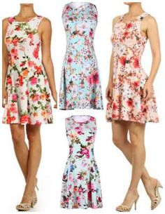 floral, summery, a line dress