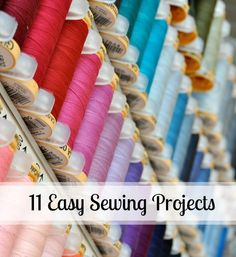 Did you get your first sewing machine for a gift? 11 Easy Sewing Projects that are perfect for the beginner