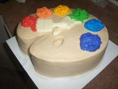 color wheel, cake