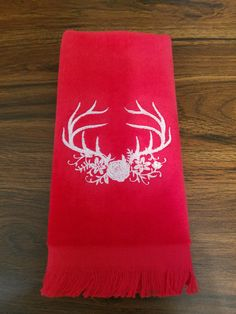 Christmas Fingertip Towel by MillineryMary on Etsy
