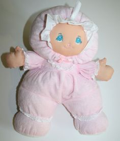 "Little Darlins Darlings Doll pink Plush Toy Babys First ragdoll Terry cloth 14"" #LittleDarlins"