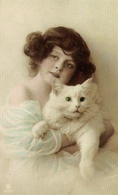 Vintage Cats by fidgetrainbowtree, via Flickr