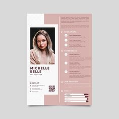 Creative Cv Template, Modern Cv Template, Cv Resume Template, Resume Design Template, Cv Photoshop, Fotos Free, Foto Cv, Fashion Cv, Cv Simple