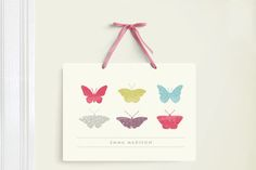 Butterfly Specimen Room Decor Signs